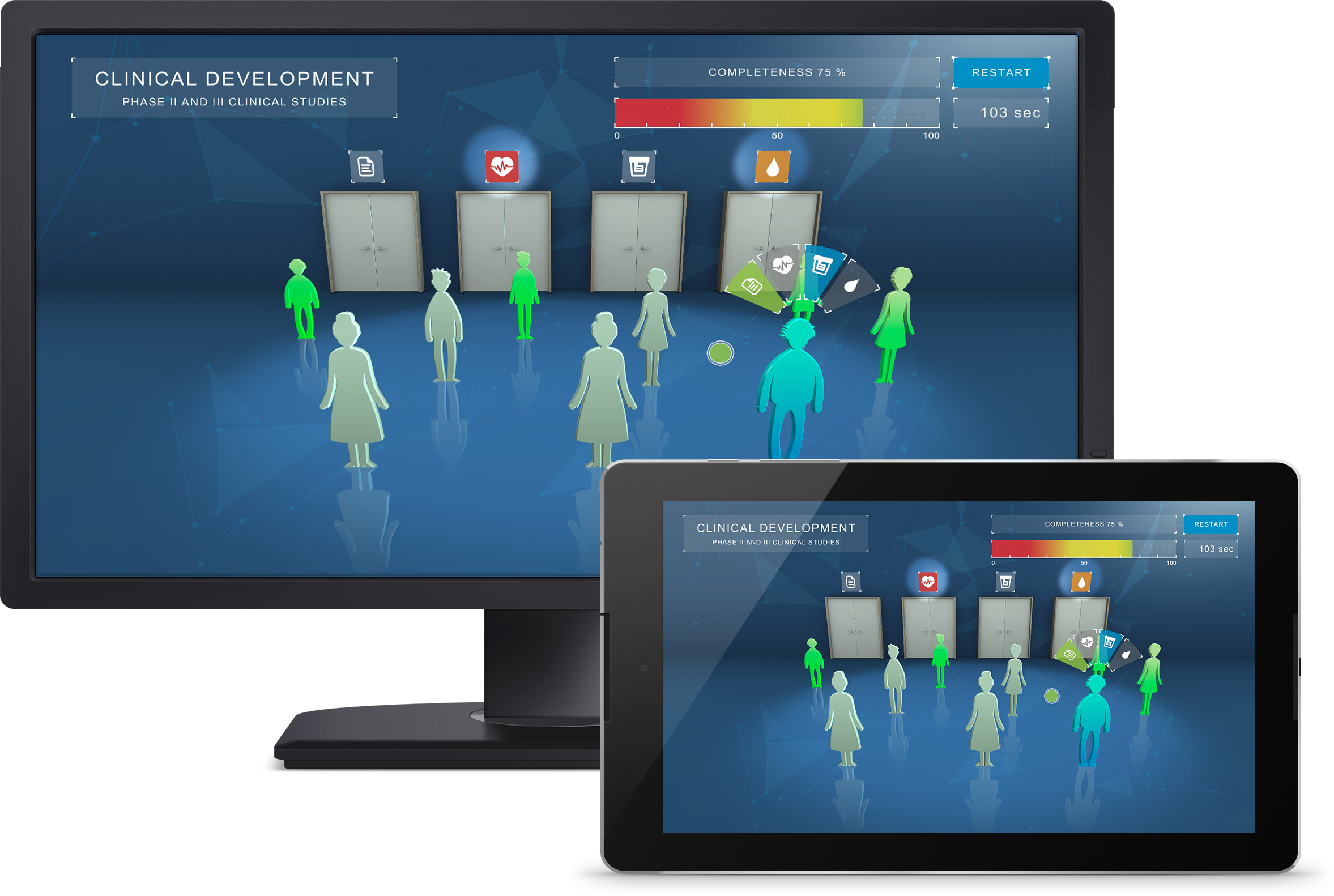 bayer serious games responsive design desktop und tablet
