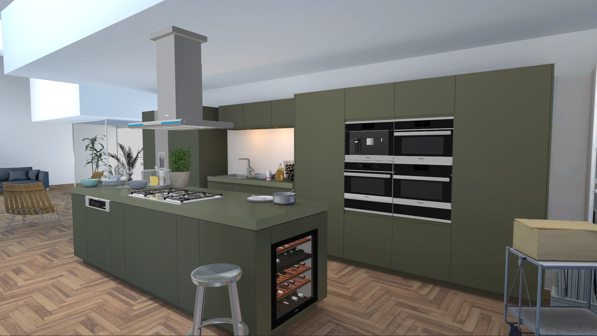 Unity3D Multitouch Konfigurator Miele Kitchen Appliances