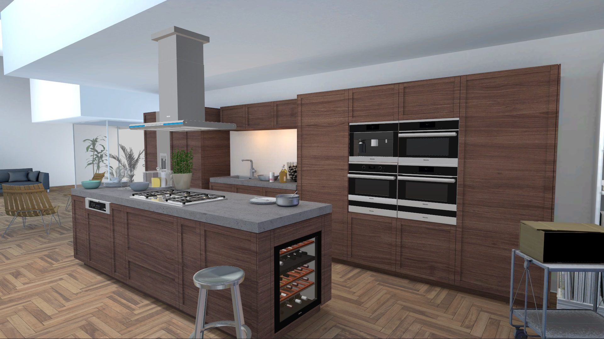 miele kitchen appliance visualizer kueche mit parkettboden